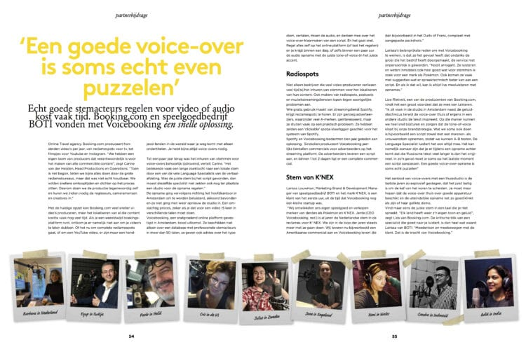 Voicebooking Adformatie